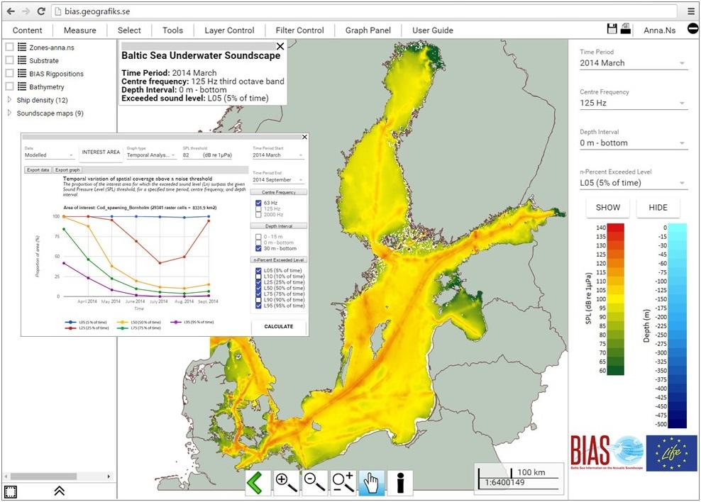 BIAS Soundscape Planning Tool Screendump